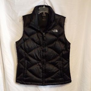 Women's Black The North Face Vest 550 Size Large